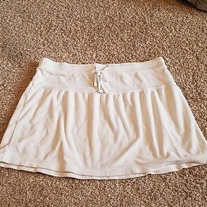 Terry cloth skirt
